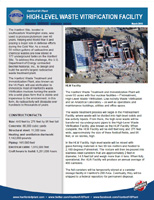 High-Level Waste Facility Fact Sheet