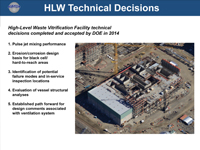 HLW Technical Decisions
