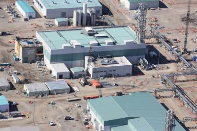 Aerial of the Low-Activity Waste (LAW) Facility. The LAW Facility will turn low-activity radioactive and chemical waste into glass to be permanently stored at Hanford.