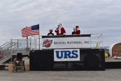 Employees at the Hanford Waste Treatment Plant, also known as the Vit Plant, donated thousands of toys and more than $29,000 to the U.S. Marine Corps Reserve's Toys for Tots campaign at the construction site.
